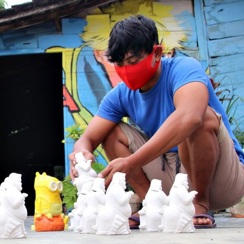 Melihat Lebih Dekat Perajin Celengan Gypsum di Desa Bangsri Kecamatan Jepon Blora