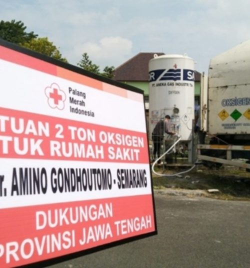 PMI Jateng Salurkan Bantuan 20 Ton Oksigen untuk Rumah Sakit